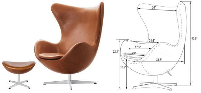 Egg Chair - Arne Jacobsen - Fuente: Pinterest y Danish Design Store